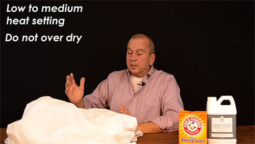 Use a low or medium heat setting when drying your bed sheets