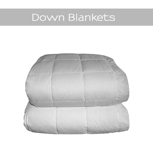 Warm light weight luxury down blankets