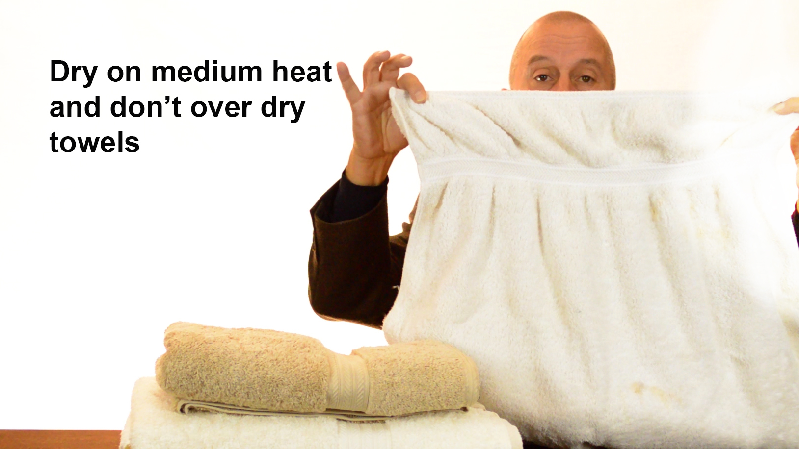 Don't over dry your towels