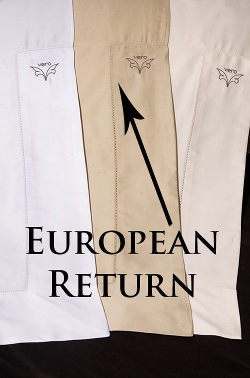 Photo of a European return on a luxury flat sheet