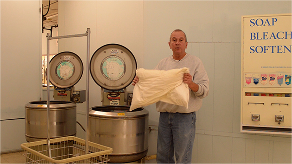 Putting pillows in a high speed extractor