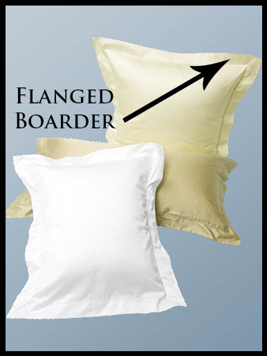 Photo of a flanged boarder on a pillow sham