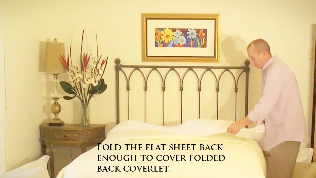 Making a bed open
