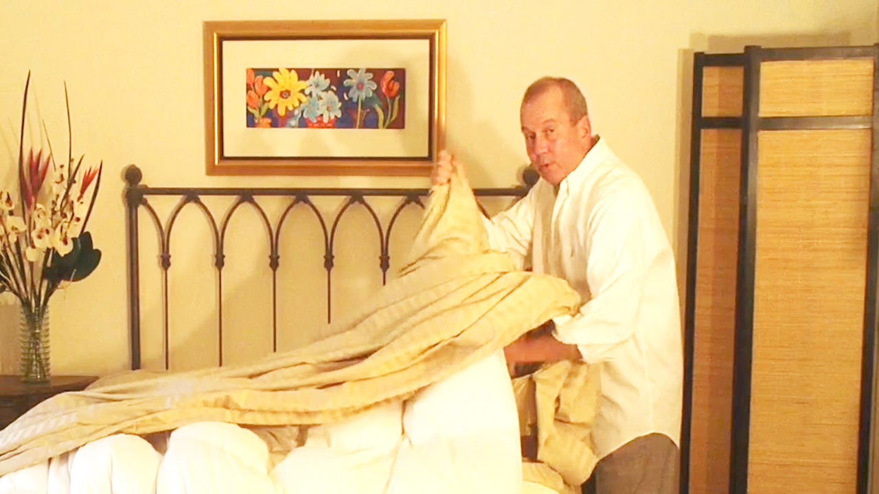The easy way to stuff a down comforter