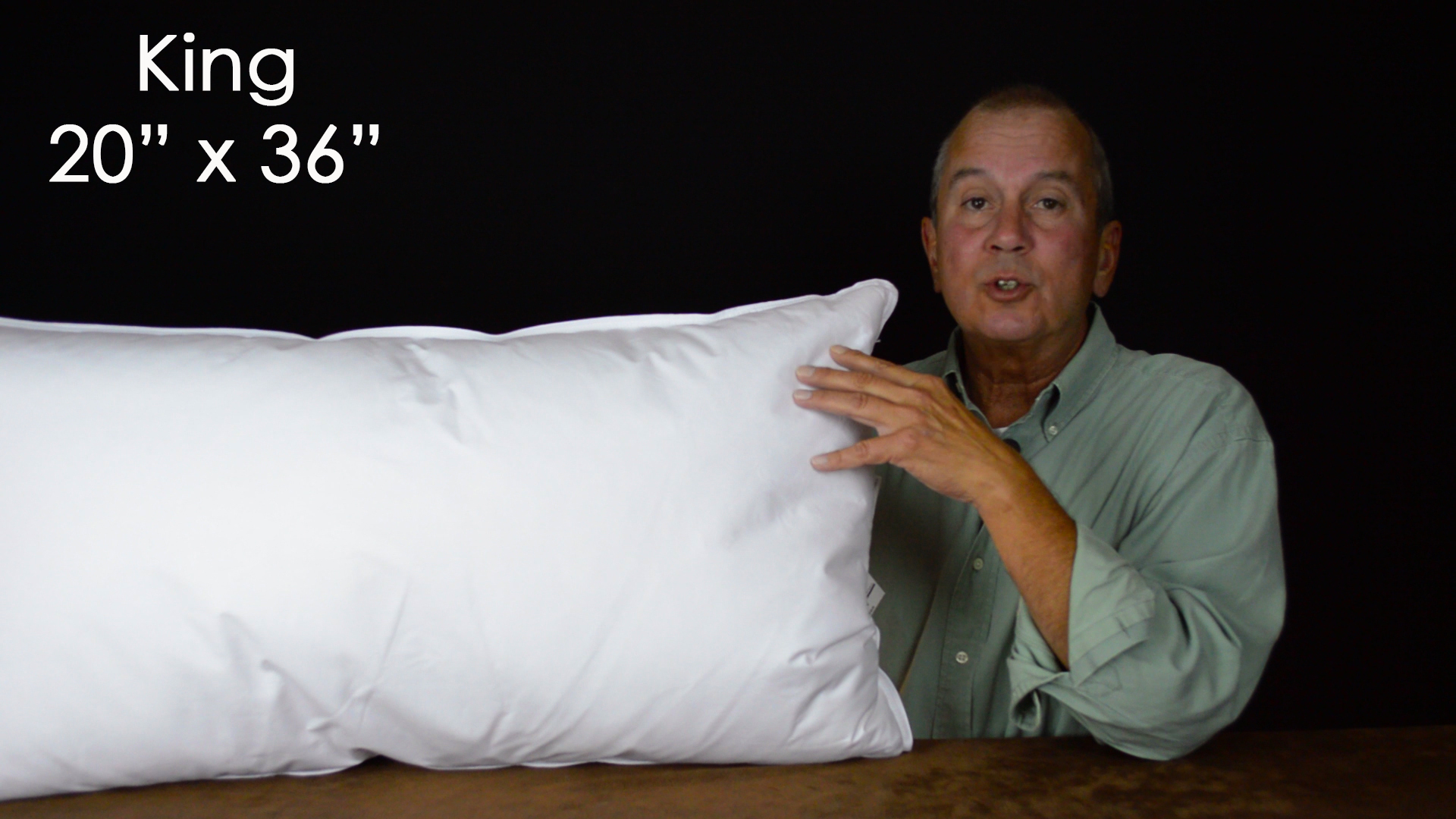 King pillows are 20