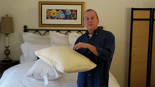 Sleeping pillows get yellow and loaded with dust-mites