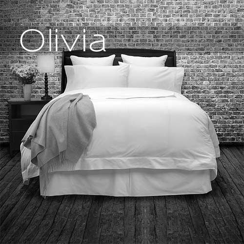 Olivia. The finest Italian Cotton Percale. Duvet, Sheets, Pillowcases.
