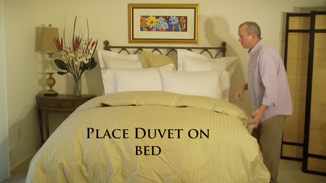 Consider placing your Down Comforter & Duvet at the foot of the bed