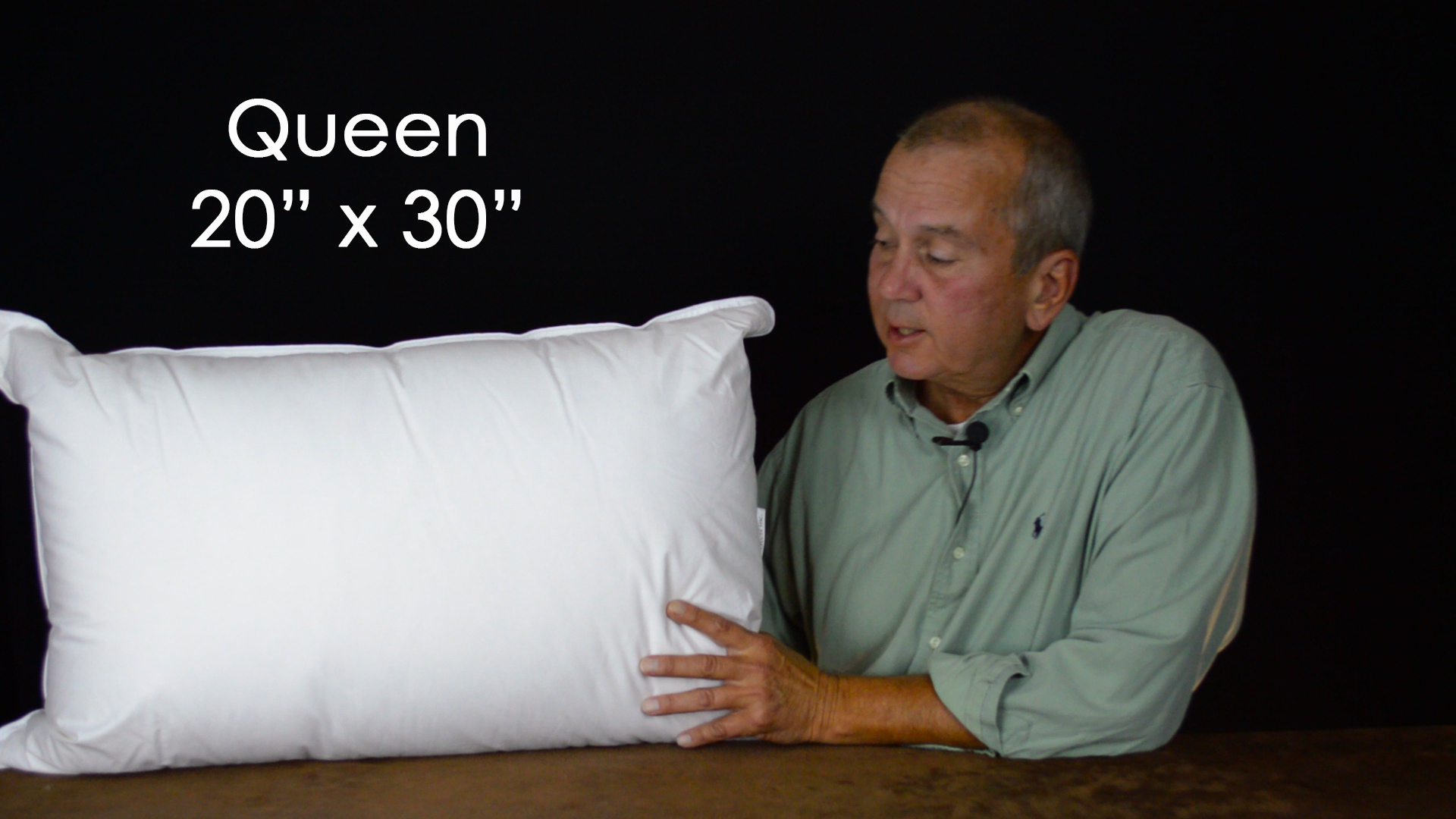 Queen size pillows are 20