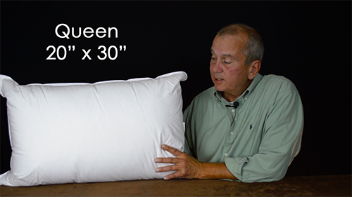 Queen size sleeping pillows are not too popular