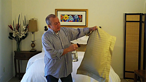 Removing wrinkles from your pillowcases without an iron