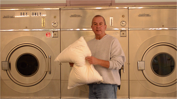 Insure your down pillows are totally dry as they can mildew if not