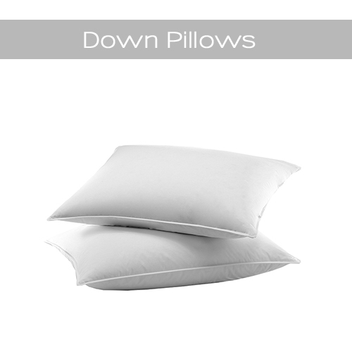 Supportive down and down feather sleeping pillows