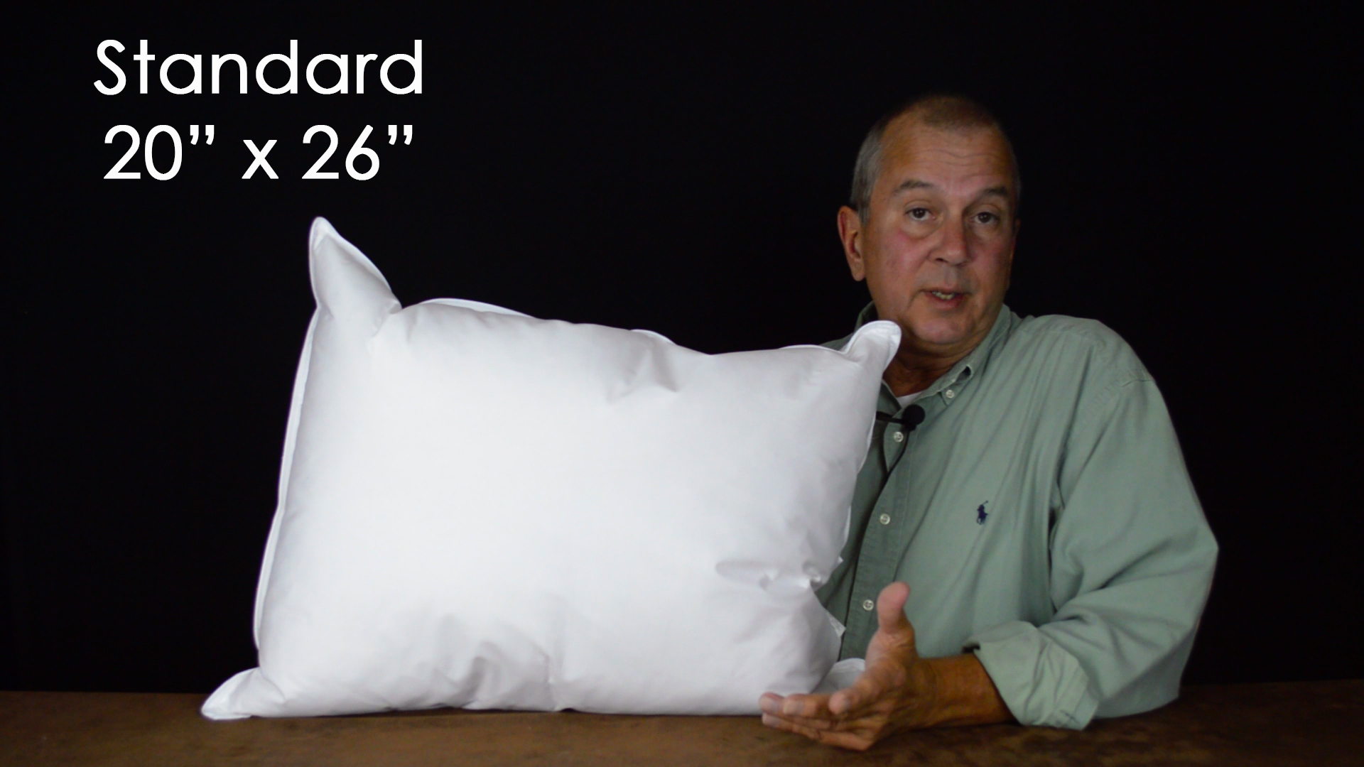 Standard pillows are 20