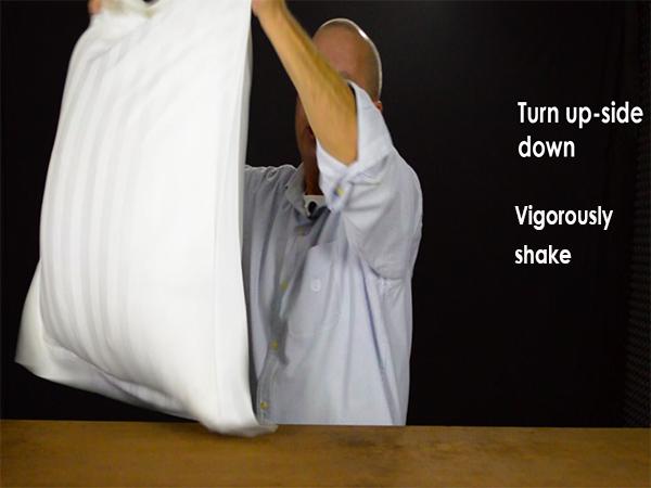 Turn the sham upside down