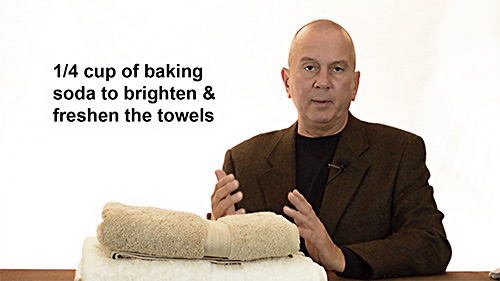 Baking soda will help keep your bath towels bright & fresh