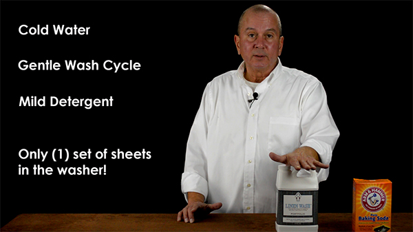 How to wash your luxury bed linens & sheets