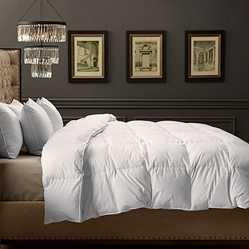 Box stitched down comforters can have cold spots