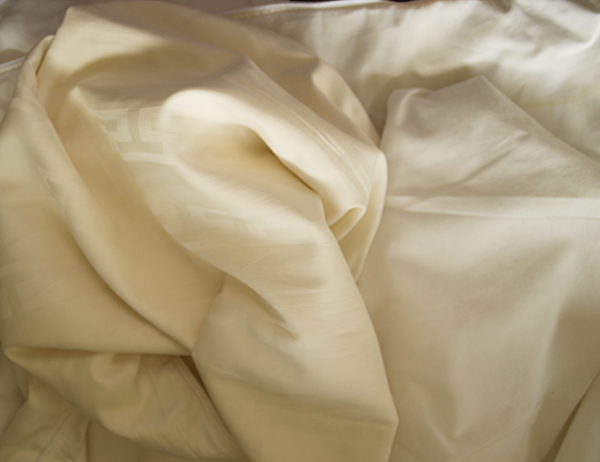 Yellowed luxury linens